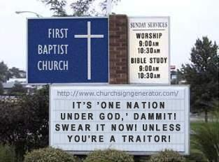 One Nation Under God, Dammit!